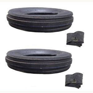 Two 600x16 Front Tires W Tubes 600 16 For Farmall International Farm Tractors