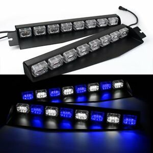 48led Lightbar Visor Light Windshield Emergency Strobe Lights Firefighter