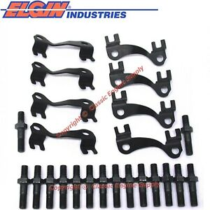 New 7 16 Pushrod Guide Plates Hp Rocker Arm Studs For Chevy Bb 396 402 427 454