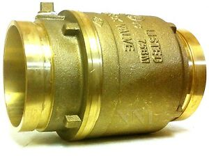 4 Grooved Swing Check Valve Brass Body 175psi Ul fm Fire Protection