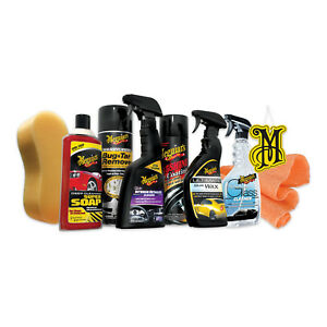 Meguiar s 9 piece Complete Car Care Kit Auto Detailing Wash Collection