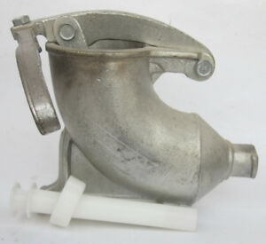 Vintage 8 Lb Sausage Stuffer Cast Iron Stainless Steel Plated W accs