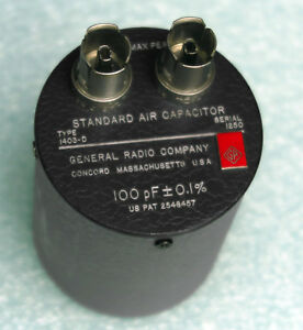 General Radio gr 1403 d Standard Air Capacitor 100 Pf 0 1 1403d