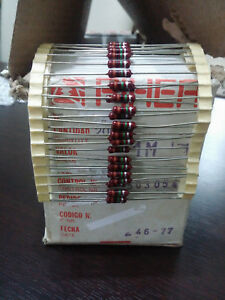 1000pcs Nos Piher Resistor 1m 1 2 Watt 1970s for Tube Amp Diy Project