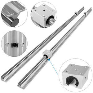 Sbr20 1800mm 2 X Linear Rail 4 X Bearing Blocks Slide Guide Economical Stable