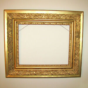 Large Frame Ornate Gilt Gesso Rococo Style 24 X 30 Antique