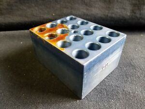 Vwr Aluminum 20 position 12 13 Mm Standard Test Tube Dry Bath Modular Heat Block