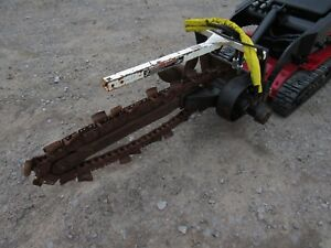 Toro Dingo Mini Skid Steer Attachment 36 By 4 Hydraulic Trencher Ship 199