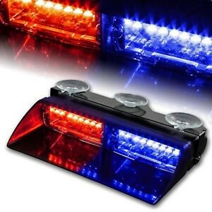 16 X Red Blue Led Flashing Firefighter Warning Strobe Lights Free Shipping