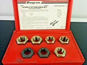 ac778 Snap On Metric Fractional Rethreading Kit 7pc Kit Set Mechanic Shop Rd 7