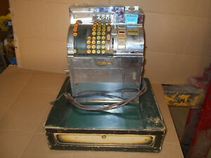 Wow Vintage 1944 National Cash Register Stainless Steel Electric 3s 1b Rare Look