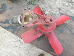 Farmall Super A Tractor Original Ih Ihc Engine Motor Fan Blade W Pulley Pullies