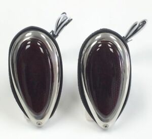 Hot Rod 1938 39 Ford Tear Drop Tail Lights W Red Glass Lens Pair