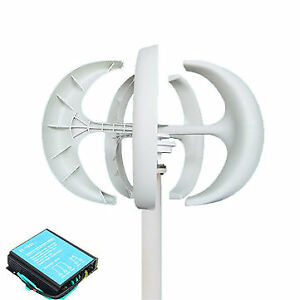 400w 12v Vertical Axis Wind Turbine Generator Vawt Boat House Camping 5 Blade