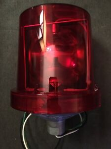 New Federal Signal 225 120r Electraray Red Rotating Beacon Alarm Light 120vac