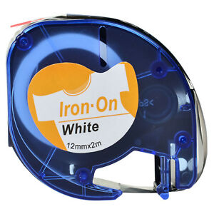 20 Pk Lt 18771 Fabric Iron on White Label Tape Fit For Dymo Letratag Plus Lt100t