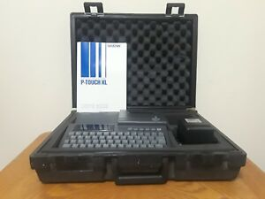 Brother P touch Xl Pt8000 Professional Labeling System Label Maker W Hard Case