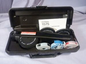 Dymo Executive 3 Tapewriter Labelmaker With Case Uses 1 4 3 8