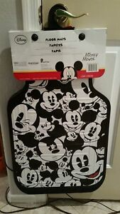 Disney Mickey Mouse Face Expressions Car Floor Mats 2pc Set new mickey Faces