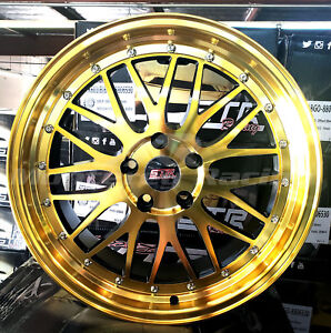 18x8 5x108 Str 601 Gold W Black Made For Ford Volvo