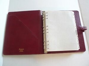 Filofax Leather Planner Desktop Size dx1 Clf 5 4 With Many Inserts Made uk