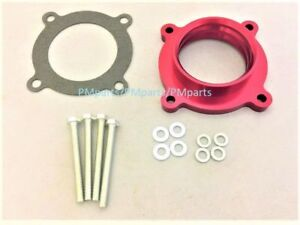 Billet Aluminum Red Throttle Body Spacer For 2007 2011 Jeep Wrangler Jk 3 8l V6