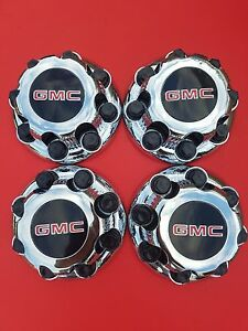 4pcs Gmc Sierra Yukon Van 1500 2500 3500 16 Wheel Center Caps Hub 8 Lug Caps