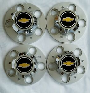 Chevrolet Chevy Gmc Truck 5 Lug 15 15x8 15x7 Rally Wheel Center Caps 4 Pcs Set