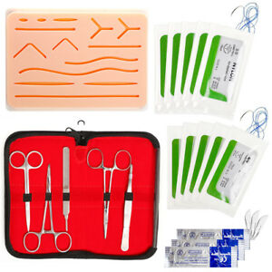 Suture Training Kit Medical Silicone Suturing Practice Pad Human Skin Model