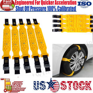 Us Winter Anti Skid Chains For Car Snow Mud Wheel Tyre Thickened Tire Tendon