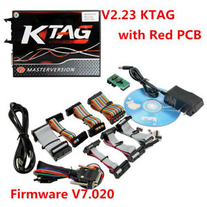 V2 23 Ktag K tag V7 020 With Red Pcb Eu Online Version Firmware Master New