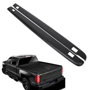 7241114 Bed Rail Caps For 2007 2013 Chevy Silverado 5 8 Bed Smooth Black