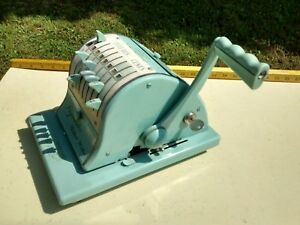 Paymaster 8000 Series Check Writer With Key And Cover New Works Good Made In Usa