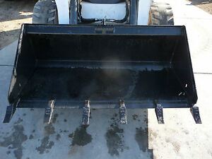Bobcat Skid Steer Attachment 66 Low Profile Tooth Bucket shipping Cost Is 199