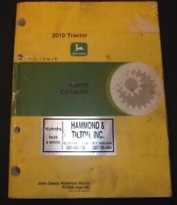 John Deere 2010 Tractor Parts Manual Book Catalog Pc 689