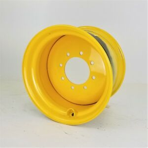 New 10 5 X 17 5 8 Hole Skid Steer Loader Wheel rim 5 Backside yellow Gehl