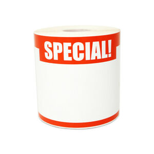 Special Sticker Label Retail Yard Garage Sale Blank Write on 5 5 X 3 5 4pk
