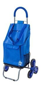 Trolley Dolly Stair Climber Blue Grocery Foldable Cart Condo Apartment