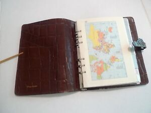 Mulberry Leather Planner organizer Larger Size With Many Inserts