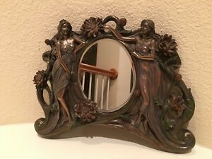 Art Nouveau Veronese Bronzed Finish Wall Mirror