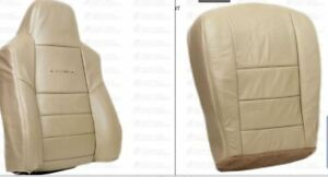 2002 2003 Ford F250 F350 Lariat Driver Bottom Backrest Perforated Seat Cover Tan