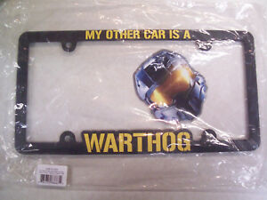Halo Video Game Warthog License Plate Frame Cover W Master Chief Decal Sticker
