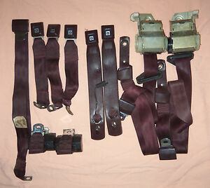 1978 1988 Grand National Malibu Monte Carlo Seat Belts Burgundy