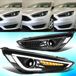 Led Headlight Head Drl Halo Projector Lamp For Ford Focus 2015 2016 2017