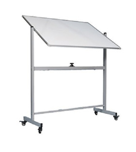 Officegenius Large Magnetic White Board On Wheels W stand Double Sided