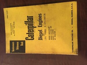Cat Caterpillar Diesel Engine Servicemen s Reference Book Manual 4 Cyl 5 3 4