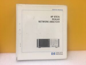 Hp Agilent 08757 90043 8757a Scalar Network Analyzer Service Manual