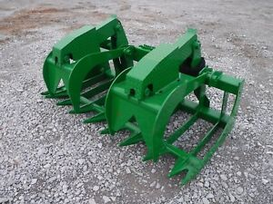 John Deere Tractor Attachment 72 Severe Duty Root Grapple Bucket Ship 199