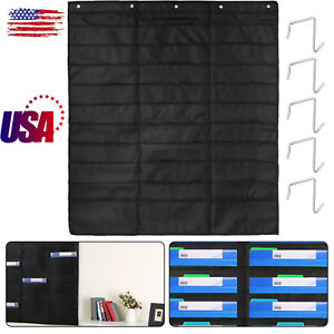 Heavy Duty File Organizer 30 Pockets 5 Over Door Hangers Pocket Chart Storage