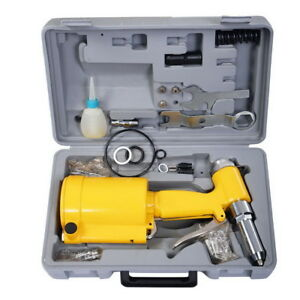 Air Riveter Pneumatic Hydraulic Pop Rivet Gun Riveting Tool 4 Size With Case